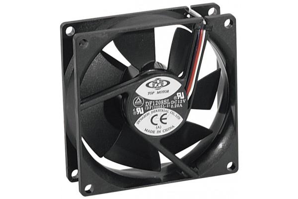 Ventilateur de boitier 12 volts 3 fils 80x80x25mm
